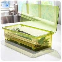 瀝水防塵餐具收納盒 簡約時尚筷子盒