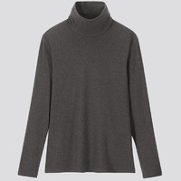 21日0点、双11预售:UNIQLO 优衣库 418229 女士罗纹棉质两翻领T恤