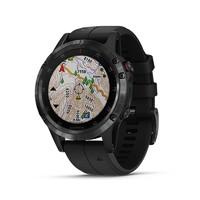 佳明GARMIN飛耐時5Plus心率音樂NFC高爾夫GPS戶外運動導航功能手表防水深度值100m(黑色aDLC藍寶石鏡面