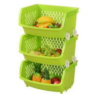 百露 廚房置物架 綠色三層 *4件
