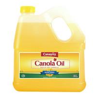 Canayiiy 低芥酸冷榨非轉基因菜籽油 3L*1桶 *3件