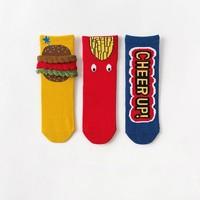 CARAMELLA 儿童中筒袜 3双装