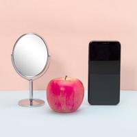 移动专享:京东京造十元店 双面台式化妆镜 *2件