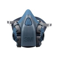 3M 7502 硅胶舒适型半面型防护面罩标准号半面具 不含滤毒盒或滤棉(单个装)