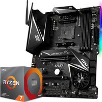 微星 (MSI) MPG X570 GAMING EDGE WIFI主板  AMD 銳龍7 3700X處理器(r7)盒裝CPU 主板CPU套裝