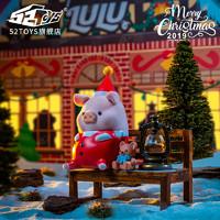 罐頭豬LULU圣誕系列套裝 手辦潮流公仔擺件可愛禮物玩具