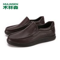MULINSEN 木林森 97053115NX 牛皮商務英倫休閑鞋
