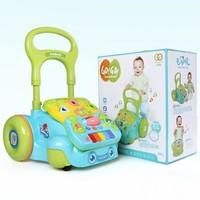 谷雨嬰兒學步車 寶寶多功能帶音樂助步車1歲寶寶可收納玩具 學步車(藍色)