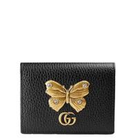 古馳Marmont皮革卡包 女士對折短款錢包卡包 女包