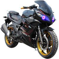民宇 國四電噴地平線S款摩托車跑車 可上牌 亮黑色 國四電噴款--200cc宗申鏈條機 標配