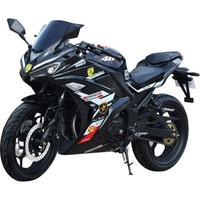 民宇  摩托車跑車R3地平線摩托車可上牌磨砂黑 套餐四 200CC風冷平衡軸鏈條機