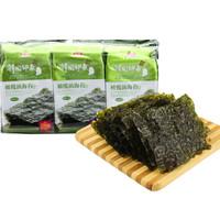 純喜 即食紫菜烤海苔 橄欖油海苔 韓國印象休閑零食4.5g*3包 *22件
