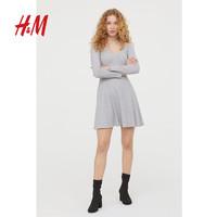 H&M DIVIDE 2019春秋新款時尚露肩連衣裙HM0713783