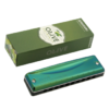 SUZUKI 鈴木C20 10孔C調布魯斯口琴 合成木格橄欖綠 OLIVE +湊單品