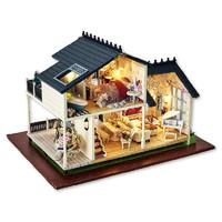 智趣屋手工diy小屋公主房普羅旺斯拼裝房子玩具模型別墅新年禮物