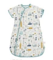 棉花堂嬰兒紗布純棉短袖一體睡袋
