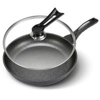 韓式麥飯石涂層炒鍋不粘鍋28cm煎鍋