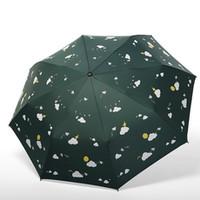 晴雨兩用黑膠防曬折疊傘