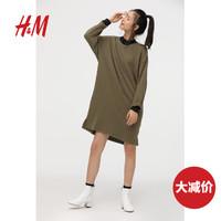H&M DIVIDED女裝裙子寬松氣質輕盈連衣裙女款七分袖HM0512251