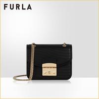 FURLA/芙拉 METR.SWING 2020新年系列 女士迷你單肩斜挎包 黑色 *2件