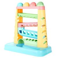 貝恩施 兒童益智玩具 軌道敲敲樂 嬰幼兒敲擊玩具 小錘子敲擊球YZ03 *3件