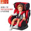 好孩子(gb)0-7歲兒童 安全座椅 高速汽車座椅 側碰SIP防護 CS726 大紅色-N018