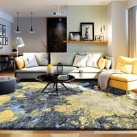 東升 現代藝術臥室地毯客廳北歐茶幾毯長方形加厚床邊毯 1.33米*1.9米 約重11斤
