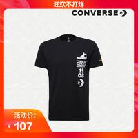 CONVERSE 匡威 印花短袖T恤  男款 10008135