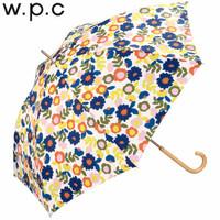 wpc晴雨傘輕量耐用可愛優雅花朵水滴個性長柄晴雨傘 花園款9698-07橙色 *3件