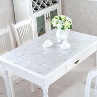 桌布防水防油免洗燙PVC軟塑料玻璃面保護膜透明茶幾餐桌墊水晶板