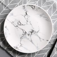 大理石紋餐具陶瓷盤子家用餐盤