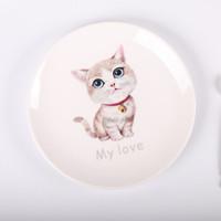 陶瓷盤子創意卡通西餐盤兒童餐具淺盤
