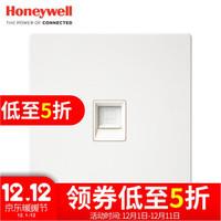 霍尼韋爾開關插座面板 一位電腦插座 86型單聯網線寬帶插座 境尚系列 白色