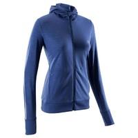 女式跑步運動保暖帽衫夾克