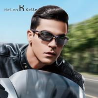 海倫凱勒2019年新款半框太陽鏡男士騎行駕駛鏡運動眼鏡偏光墨鏡飛行家系列樹脂鏡片太陽鏡H8872