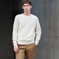 双11预售:UNIQLO 优衣库 419198 男士羊仔毛圆领针织衫
