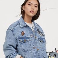 双11预售:H&M DIVIDED 猫和老鼠联名 0816780 女士牛仔外套