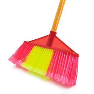 兰诗(LAUTEE)617-Y 扫把笤帚 直杆宽头硬毛木柄扫把