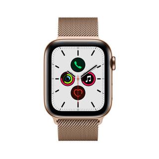 Apple Watch Series 5智能手表(GPS+蜂窝网络款 44毫米金色不锈钢表壳 金色米兰尼斯表带 MWWJ2CH/A)