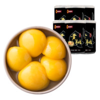 林家铺子 新鲜糖水黄桃罐头 425g*6罐
