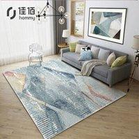 京东PLUS会员:佳佰 HR 现代简约几何条纹地毯 140*200cm
