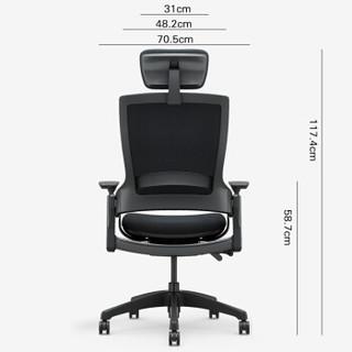 永艺/UE 电脑椅 办公椅家用 人体工学椅老板椅可躺 Mellet黑色