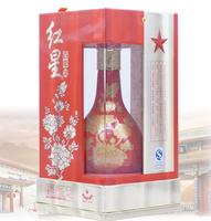 紅星二鍋頭 52度 富貴牡丹瓶 500ml*6瓶 整箱 兼香型白酒