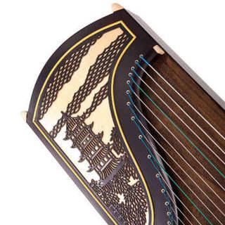 相思鸟(LOVEBIRD) 古筝 实木非洲檀 扦雕紫檀 专业考级演奏刻字古筝 民族管弦乐器  XS1224