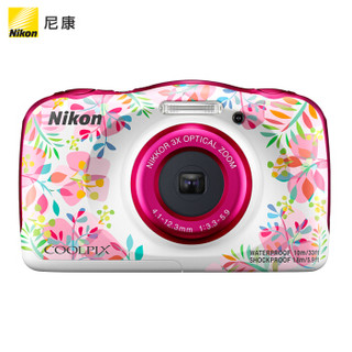 尼康(Nikon)COOLPIX W150 轻便型 数码相机 防水防震  w150 粉色(约1,317万有效像素 全高清视频拍摄)