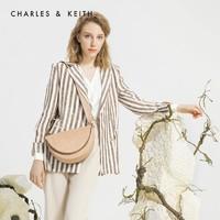 CHARLES&KEITH CK2-80780924 半圓形女士翻蓋單肩包