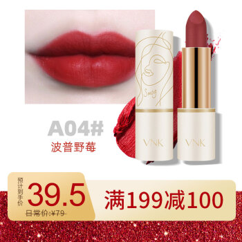 VNK艺术管口红A04# 波普野莓3.5g(哑光唇膏 不易脱色 不显唇纹 不拔干)