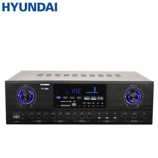 现代 HYUNDAI K-1200 家庭影院大功率蓝牙功放机 专业电视卡拉OK定压功放放大器