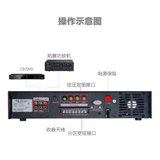 金正(NINTAUS)JZ-250W  大功率蓝牙定压功放机公共广播校园广播功放背景音乐系统专业5分区放大器