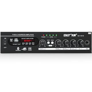 先科(SAST)SA-5016 家庭影院 专业定压定阻大功率AV功放机家用电视音响放大器 (黑色)